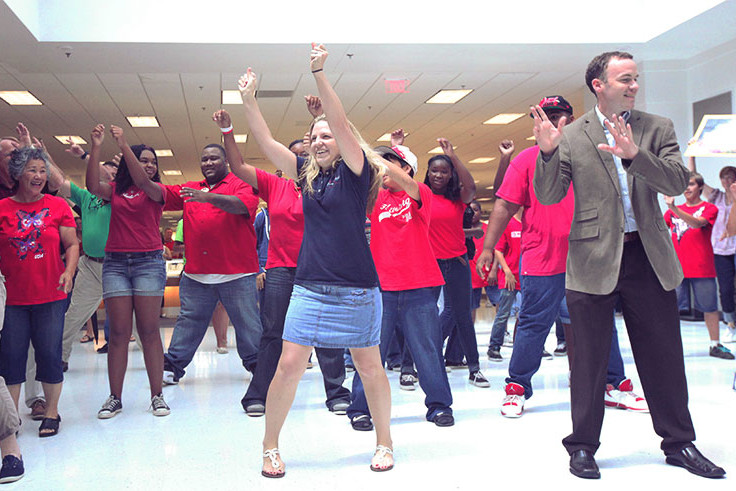 event office flash mob