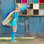 event power posing superhero