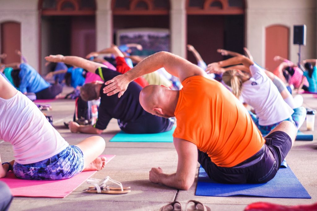 event yoga wellbeing class